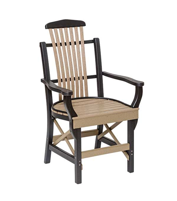 Handcrafted Bent Poly Patio Chair, Sonrise Poly, Denver PA
