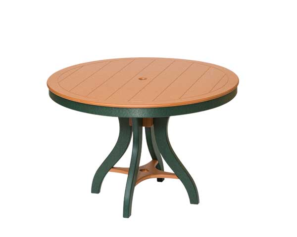 Handcrafted Bent Poly Round Table, Sonrise Poly, Denver PA