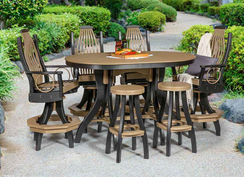 bar height oval dining set, Sonrise Poly, Denver PA